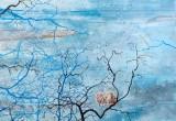 Jardin d'hiver / 100x100 cm / 2014 / Acrylique Collage Encre
