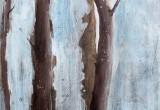 Les Pins de Coralie 1 / 60x120 cm / 2014 / Acrylique Collage Encre