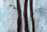 Les Pins de Coralie 2 / 60x120 cm / 2014 / Acrylique Collage Encre