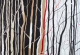 Bois Rouge 1 / 81x100 cm / 2012 / Acrylique Collage Encre