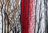 Bois Rouge 2 / 81x100 cm / 2012 / Acrylique Collage Encre