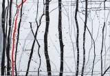 Rencontres / 80x140 cm / 2012 / Acrylique Collage Encre