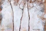 Allée des Pins / 60x60 cm / 2014 / Acrylique Collage Encre